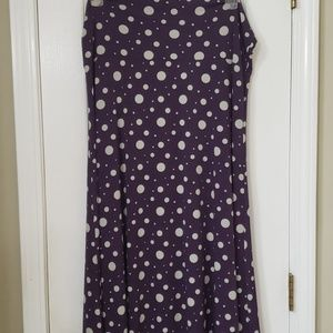 Purple Maxi with silver polka dots